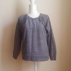 J.crew Jeweled Sweatshirt Size Medium